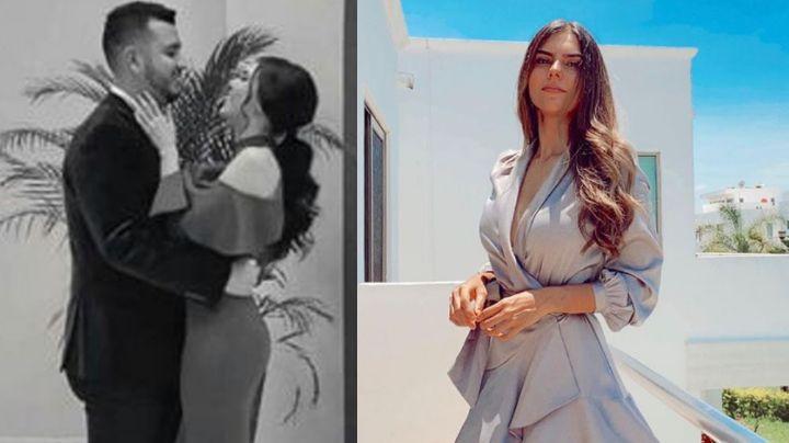 Ella es Paloma Llanes, la guapa y muy joven esposa del vocalista de Calibre 50