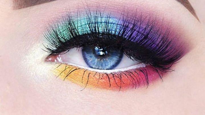 ¡Dile hola a la primavera! Aprende a hacer un hermoso maquillaje para ojos de arcoíris