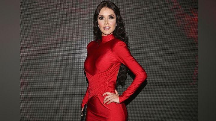 FOTO: Marlene Favela roba corazones al posar con fascinante vestido rojo