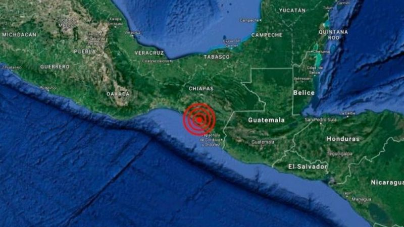 Sismo de 5.1 sacude a habitantes de Chiapas; epicentro se registró en Guatemala