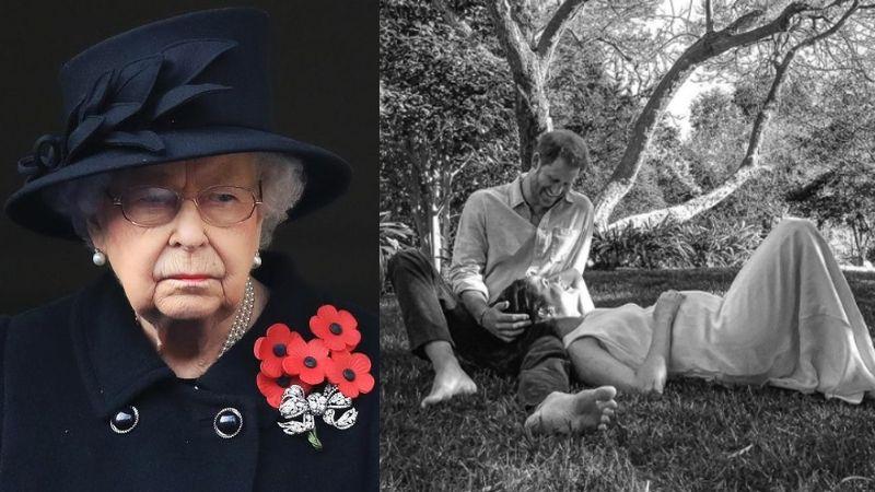 Príncipe Harry anuncia embarazo de Meghan Markle y así reacciona la Reina Isabel II