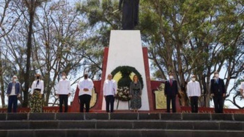 AMLO y Martin Luther King III conmemoran aniversario luctuoso de Vicente Guerrero