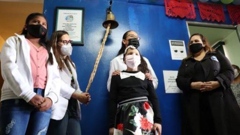 Ciudad Obregón: Aislyn y Julia dan 'campanazo' por la vida tras vencer el cáncer