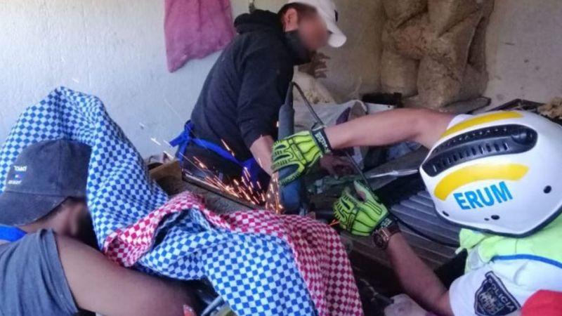 Menor termina prensado en una máquina de una tortillería de la Ciudad de México