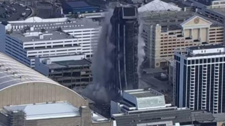 VIDEO: ¡Fuera abajo! Dinamitan el hotel y casino Trump Plaza en Atlantic City