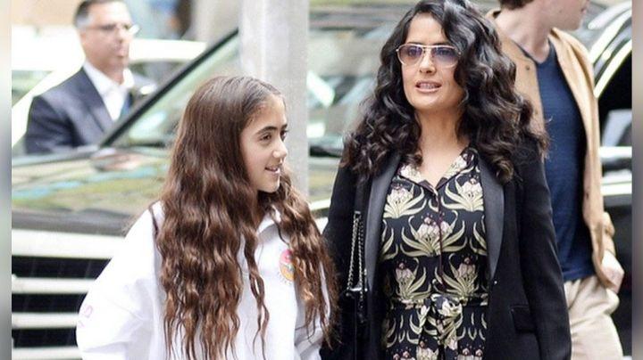 ¿Parecen hermanas? Salma Hayek presume lo grande que está su hija Valentina