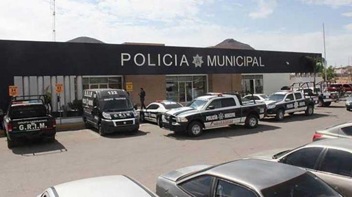 Caos en la Jefatura de Policía de Guaymas; elemento dispara su arma accidentalmente