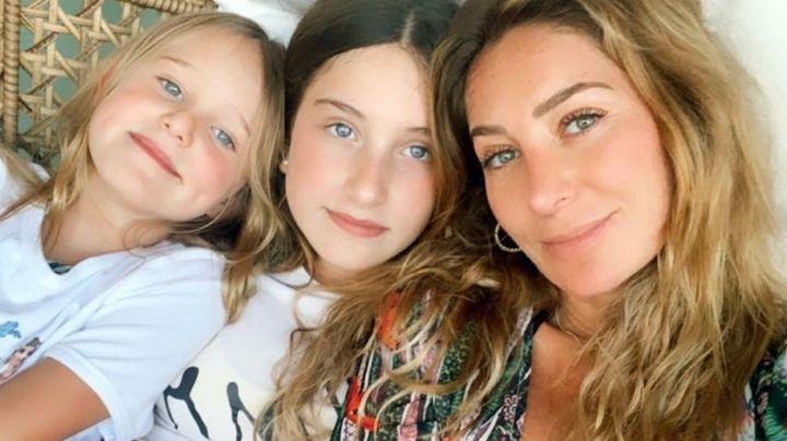 VIDEO: Con todo y muleta, Geraldine Bazán da increíble sorpresa de cumpleaños a su hija