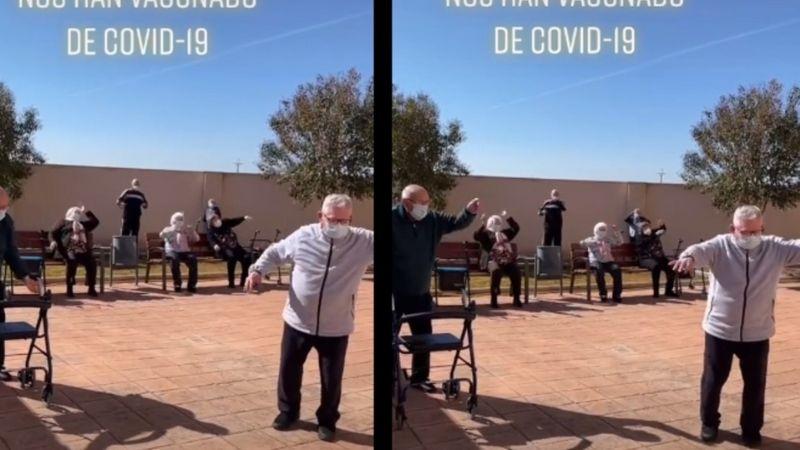 """(VIDEO) """"¡Nos han vacunado contra el Covid-19!"""": Emocionados, así agradecen abuelitos"""