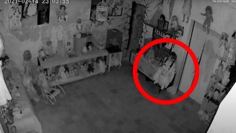 VIDEO: Cámaras capta a la muñeca 'Annabelle' yucateca moviéndose e impacta en redes