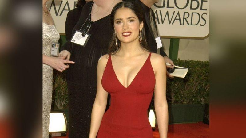 Salma Hayek enamora Instagram al revelar que el rojo intenso le va bien