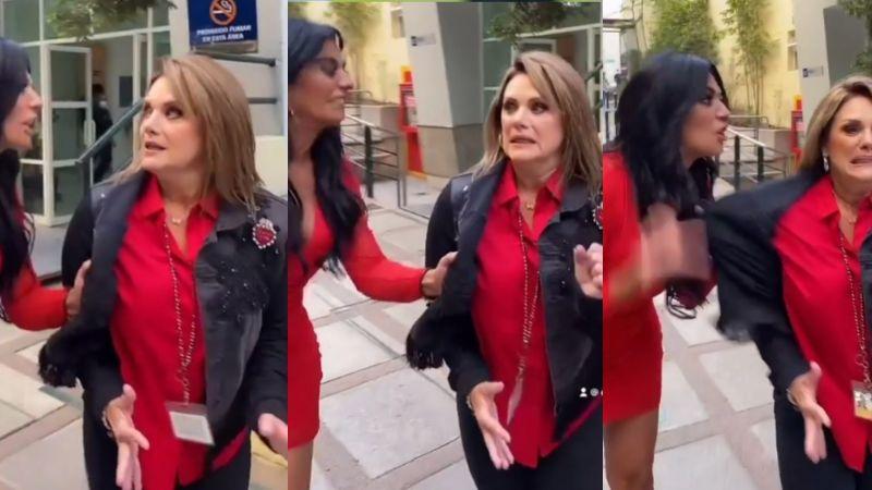 ¡Pleito en Televisa! Entre gritos y jalones, Cecilia Galliano insulta a Érika Buenfil