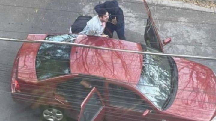 FUERTE VIDEO: Captan violento secuestro de joven en el municipio más rico de México