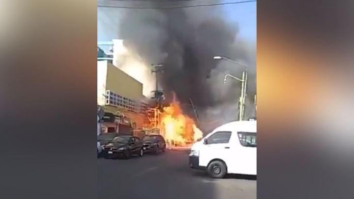Explosión de pipa de gas deja como saldo una persona quemada y tres intoxicados en CDMX