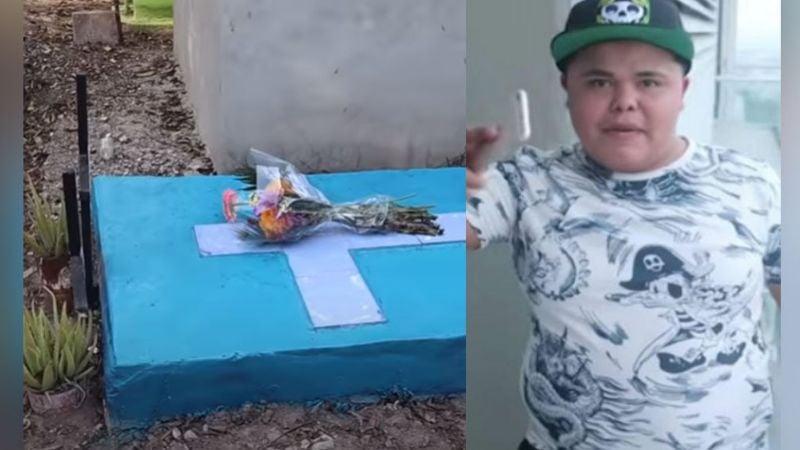 A 3 años de su asesinato, así es como luce la tumba del 'Pirata de Culiacán'