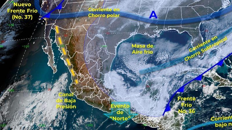 Clima: Frente Frío 37 llegará a México este domingo con vientos y bajas temperaturas