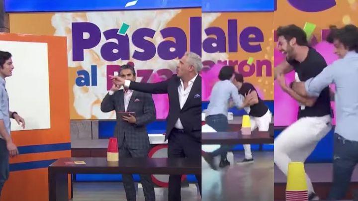 ¡Pleito en 'Hoy'! Actor de Televisa empuja a Lambda García y ataca a Arath de la Torre