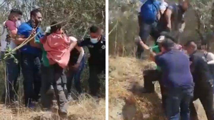 VIDEO: Niño es rescatado sano y salvo en Edomex; lo secuestró su propio tío