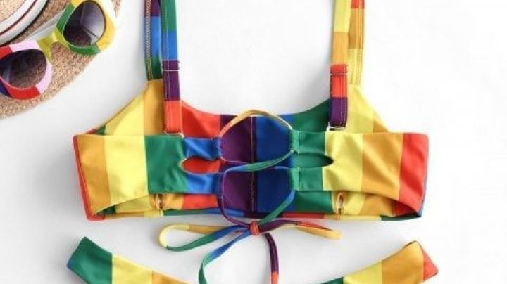 Dile hola al calor de la Semana Santa 2021 con estos trajes de baño de arcoíris