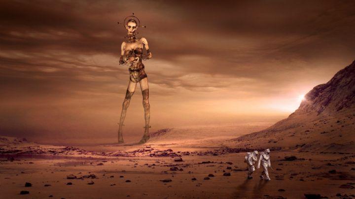"""¿OVNIS? Documento de la CIA revela que """"personas muy altas"""" fueron vistas en Marte"""