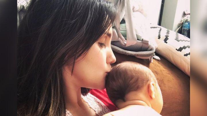 Instagram: Dulce María presume la enorme barriga que tenía antes de dar a luz