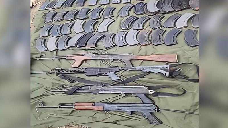Duro golpe al narco: Guardia Nacional localiza e incauta arsenal en Tamaulipas