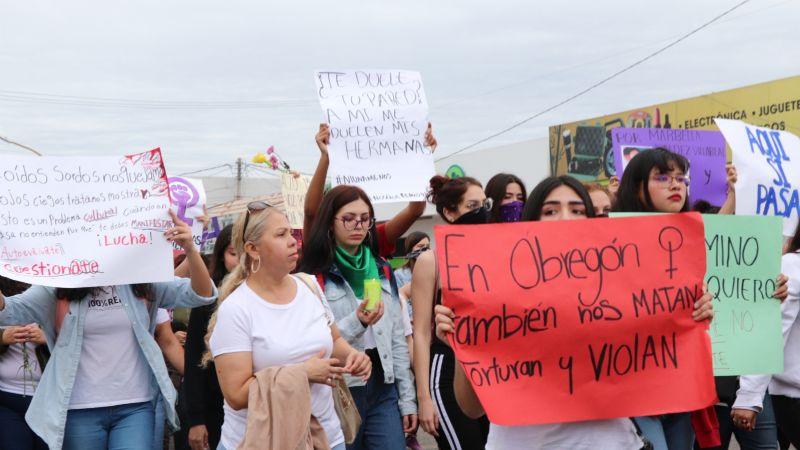 Colectivos feministas anuncian actividades en Cajeme por el 'Día Internacional de la Mujer'