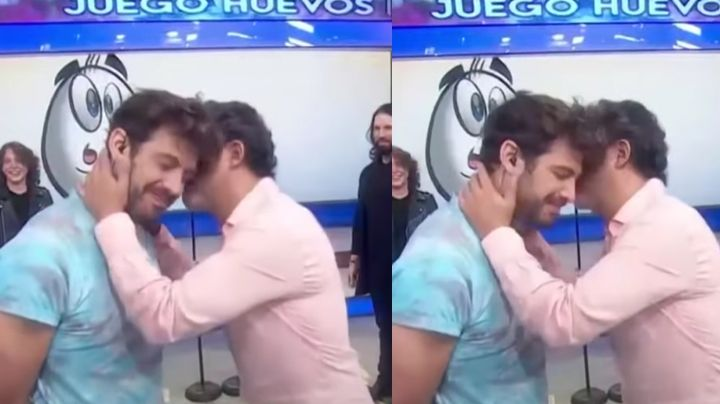 ¿Romance en Televisa? Conductor de 'Hoy' le roba beso a Lambda García en vivo