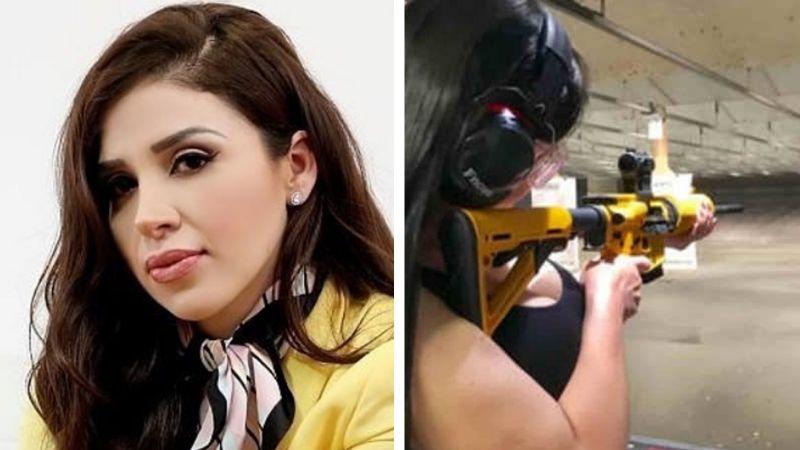 VIDEO: Emma Coronel muestra su increíble habilidad para disparar armas de fuego