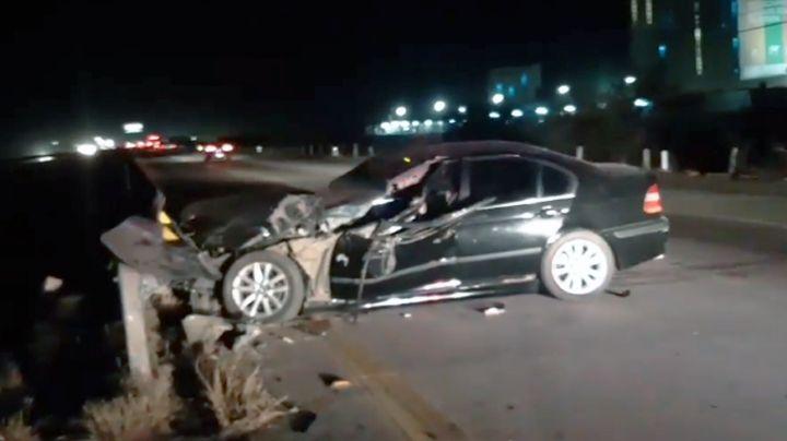 Cajeme: Fuerte choque en la Carretera Internacional deja a chofer herido de gravedad