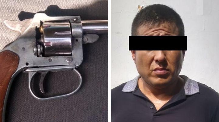 Hermosillo: Sujeto es sorprendido por la Policía con revólver oculto entre sus ropas