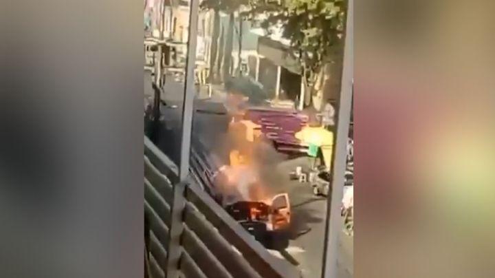 VIDEO: Momento exacto en el que explota una pipa de gas y prende en llamas todo alrededor