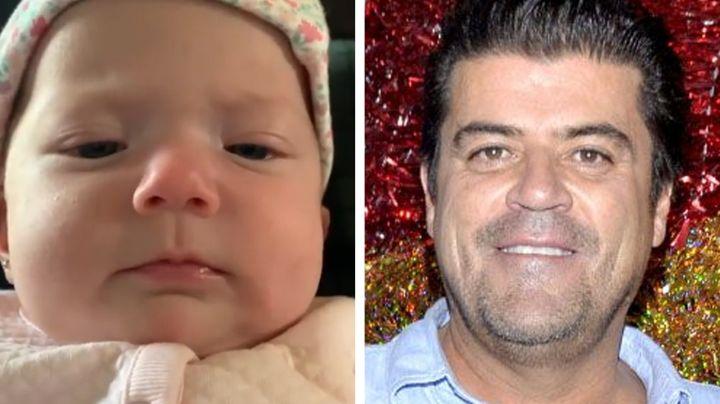 VIDEO: 'El Burro' Van Rankin presume los bellos ojos azules de su bebé Carlota
