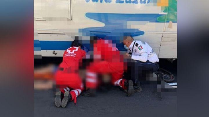Ciclista de la tercera edad muere al ser atropellado por autobús; el responsable se dio a la fuga