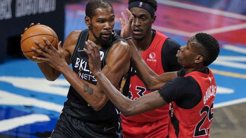 Doble golpe para Brooklyn; Durant, obligado a marcharse y Nets caen ante los Raptors
