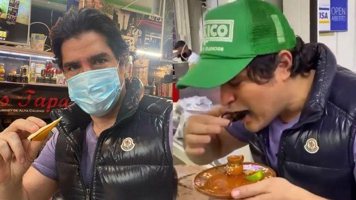 EXÓTICO VIDEO: Eduardo Verástegui se come una tarántula ¿para llamar la atención?