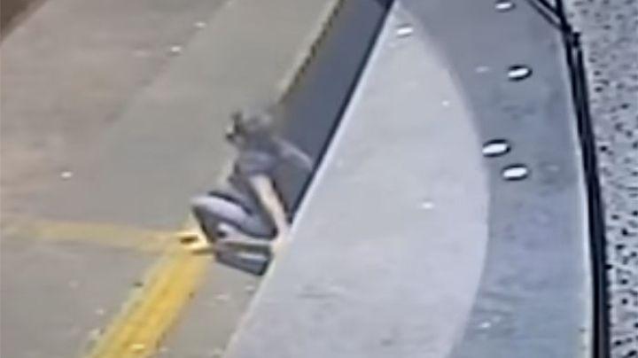 VIDEO: Aterrada mujer huye de su violador y se lanza al vacío; amenazó con matarla