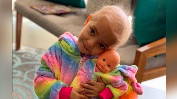 Desgarrador: Niña de 3 años lucha contra duro cáncer; su posibilidad de sobrevivir es del 8%
