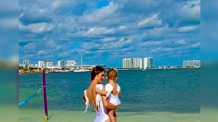 Desde sus días de playa, Marlene Favela se convierte en ángel junto a su hija