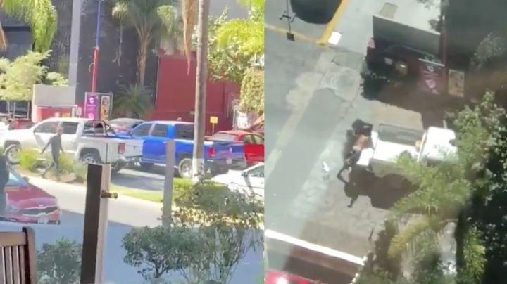 FUERTE VIDEO: Intentan secuestrar a hombre en restaurante; huyen con sicario muerto
