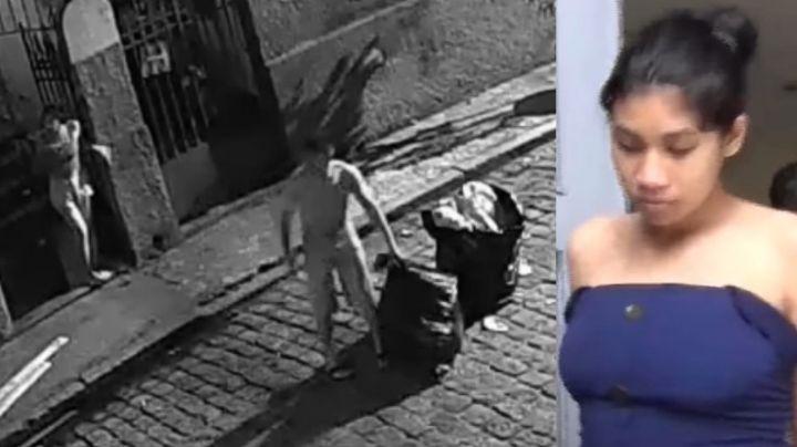 VIDEO: Despiadada madre ahorca a su bebé hasta matarlo y tira su cuerpo en la basura