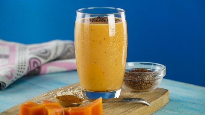 ¡Ideal para la digestión! Este 'smothie' de coco con papaya te encantará