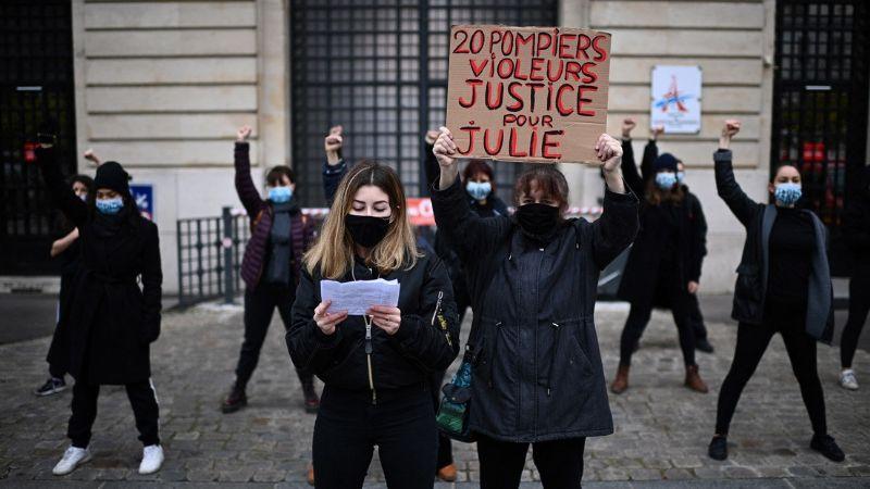 ¡Conmoción en Francia! 20 bomberos violan a una menor y provoca manifestaciones en el país