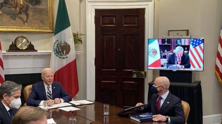 """""""Ustedes son nuestros iguales"""", destaca Joe Biden en reunión virtual con AMLO"""