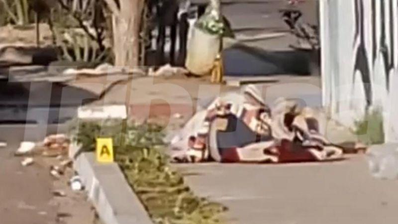 Violenta mañana: Encuentran 'encobijado' en plena banqueta al sur de Ciudad Obregón