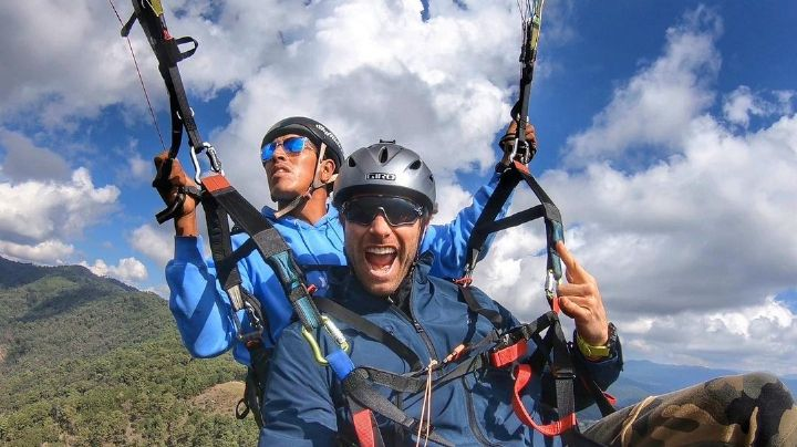 ¡Lo mandaron a volar! Sebastián Rulli presume en redes sociales vuelo en paracaídas