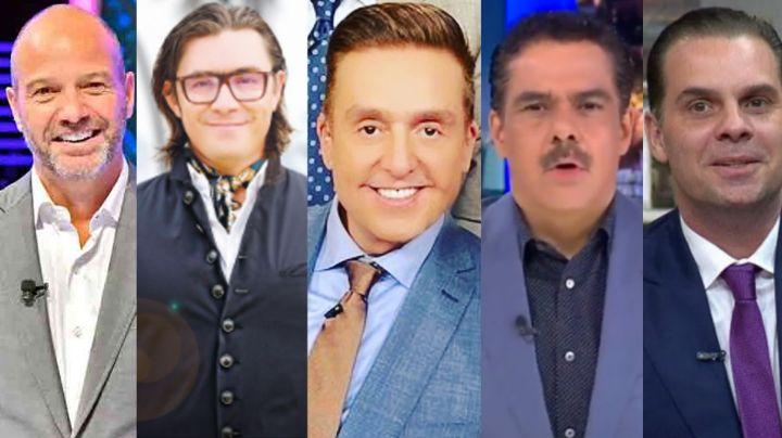 Ellos son los cinco conductores que tienen exclusividad en TV Azteca; Bisogno perdería el contrato