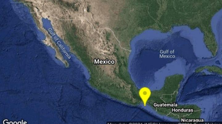 Reportan sismo de magnitud 5.0 grados con epicentro en la ciudad de Tonalá, Chiapas