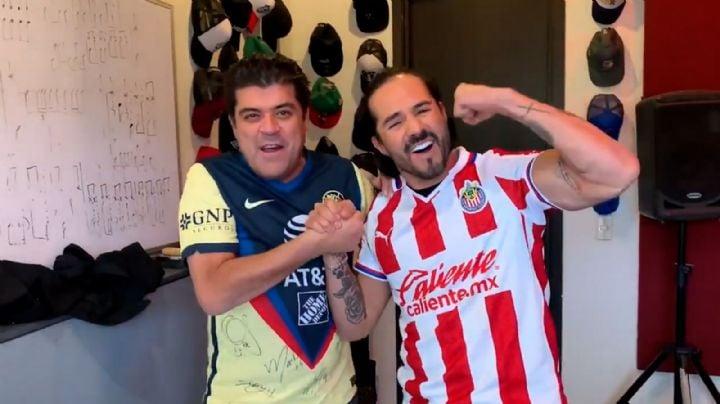 ¡Arde Televisa! Conductor de 'Hoy' y José Ron hacen RIESGOSA apuesta para el Chivas vs. América