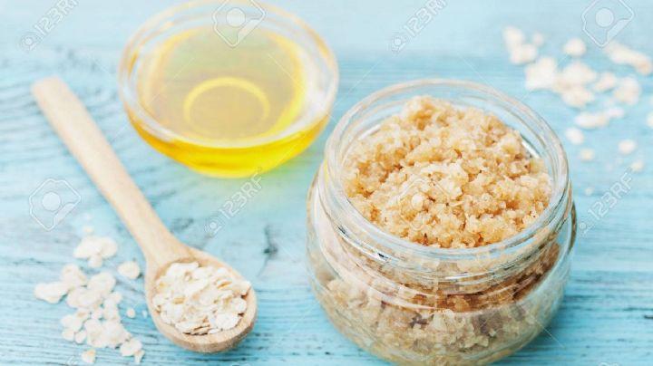 ¡Impactante! Logra una piel sin imperfecciones con este exfoliante de avena con miel